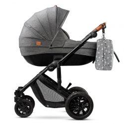 Kinderkraft Prime 3w1 Wózek Głęboko Spacerowy + Fotelik 0-13 kg Grey