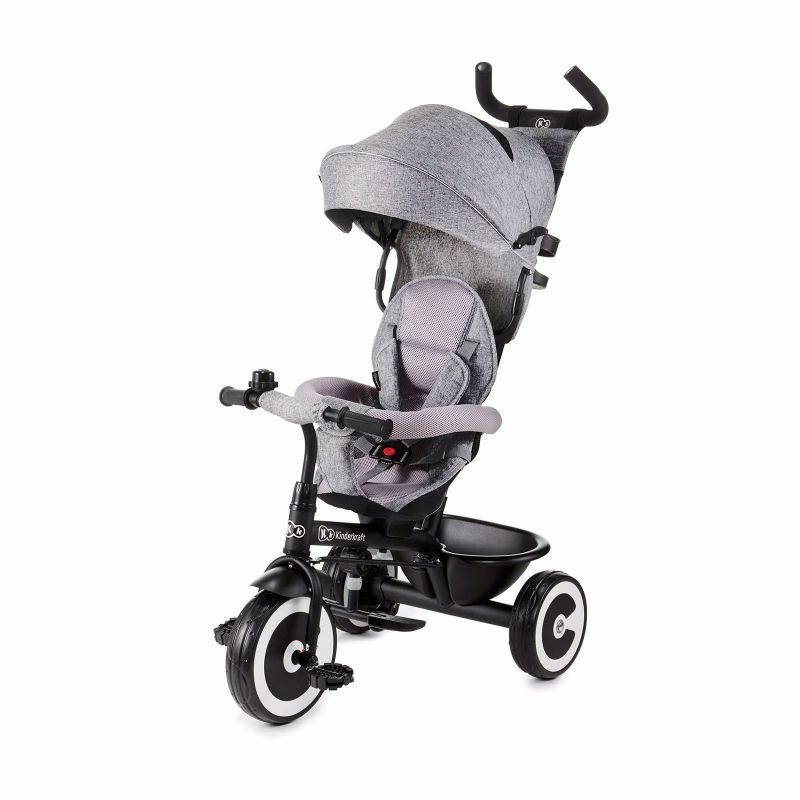 Kinderkraft Aston Rowerek PRZÓD i TYŁ Trójkołowy Grey