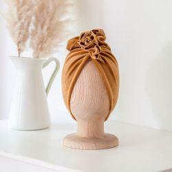 Looks by Luks Turban Velvet (0-6m) Golden Ochre