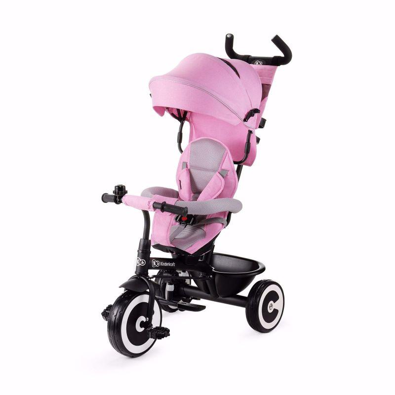 Kinderkraft Aston Rowerek PRZÓD i TYŁ Trójkołowy Pink