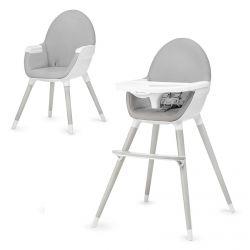 Kinderkraft Fini 2w1 Krzesełko do Karmienia Szare Nogi Grey