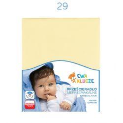 Eevi Prześcieradło nieprzemakalne bawełna +PUR 120x60 żółty