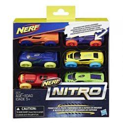 Hasbro Nerf Nitro Refill 6 Piankowych Samochodów