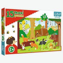 Trefl Puzzle Baby Zwierzątka w lesie 15 el.