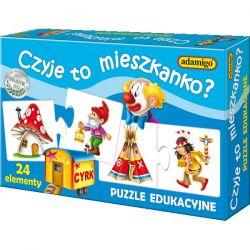 Adamigo Puzzle edukacyjne Czyje to mieszkanko? 24 el.