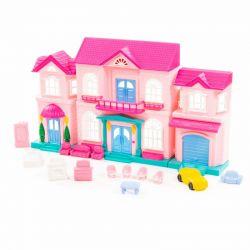 "Domek dla lalek ""Zosia"" z zestawem mebli i samochodem"