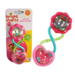 Bright Starts Podwójna Grzechotka Pink