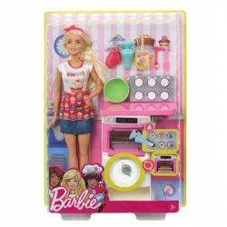 Mattel Barbie domowe wypieki zestaw kuchnia + lalka