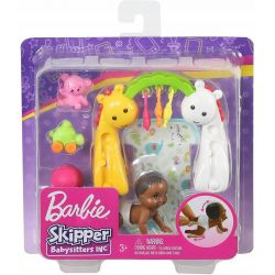 Barbie Skipper Lalka Dziecko Bobas Akcesoria