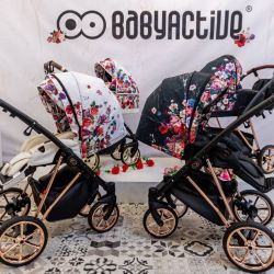 BabyActive Musse Wózek 3w1 Dark Rose