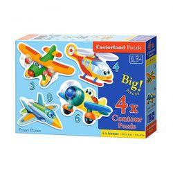 Castorland Puzzle Zabawne Samoloty 4 Układanki