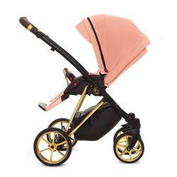 BabyActive Musse Ultra Wózek Głęboko Spacerowy 2w1 Opcja Fotelik 3w1 Baza 4w1 Apricot