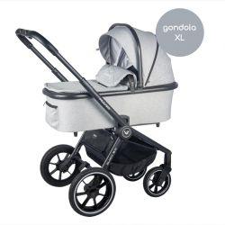 Muuvo Quick 2.0 Wózek 2w1 GONDOLA XL Rocky Grey