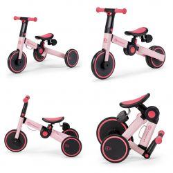 Kinderkraft 3w1 Składany Rowerek Trójkołowy 4Trike Candy Pink