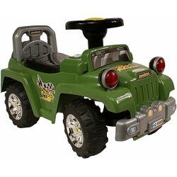 Jeździk Advancer Jeep + Muzyka Zielony