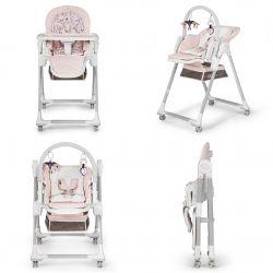 Kinderkraft 2w1 Krzesełko do Karmienia - Leżaczek Lastree Pink
