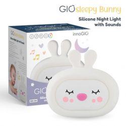 InnoGIO Silikonowa Szumiąca Lampka Nocna GioSleepy Bunny...