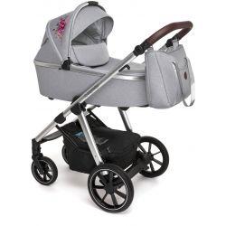 Baby Design Bueno Wózek Głęboko Spacerowy 2w1 107 Gray Peony