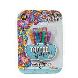 Grafix Żelowe Długopisy do Tatuażu z Brokatem 4 Kolory Gelpens