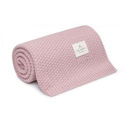 Memi Kocyk 100% Wełny Merino Powder Pink Premium Collection