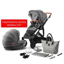 Kinderkraft Prime Wózek 2w1 Głęboko Spacerowy Grey