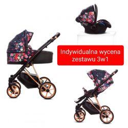 BabyActive Musse Wózek Głęboko Spacerowy 3w1 + fotelik 0-13...