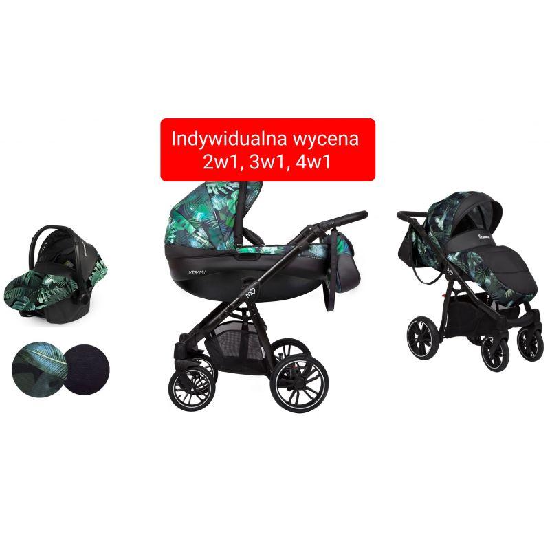 BabyActive Mommy Wózek Głęboko Spacerowy 2w1 Opcja Fotelik 3w1 Baza 4w1 Jungle 10