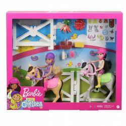 Barbie Chelsea Szkoła Jeździecka 2x Lalka 2x Kucyk